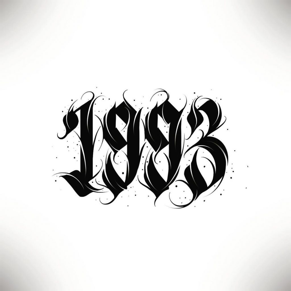 Calligraphie « 1993 »