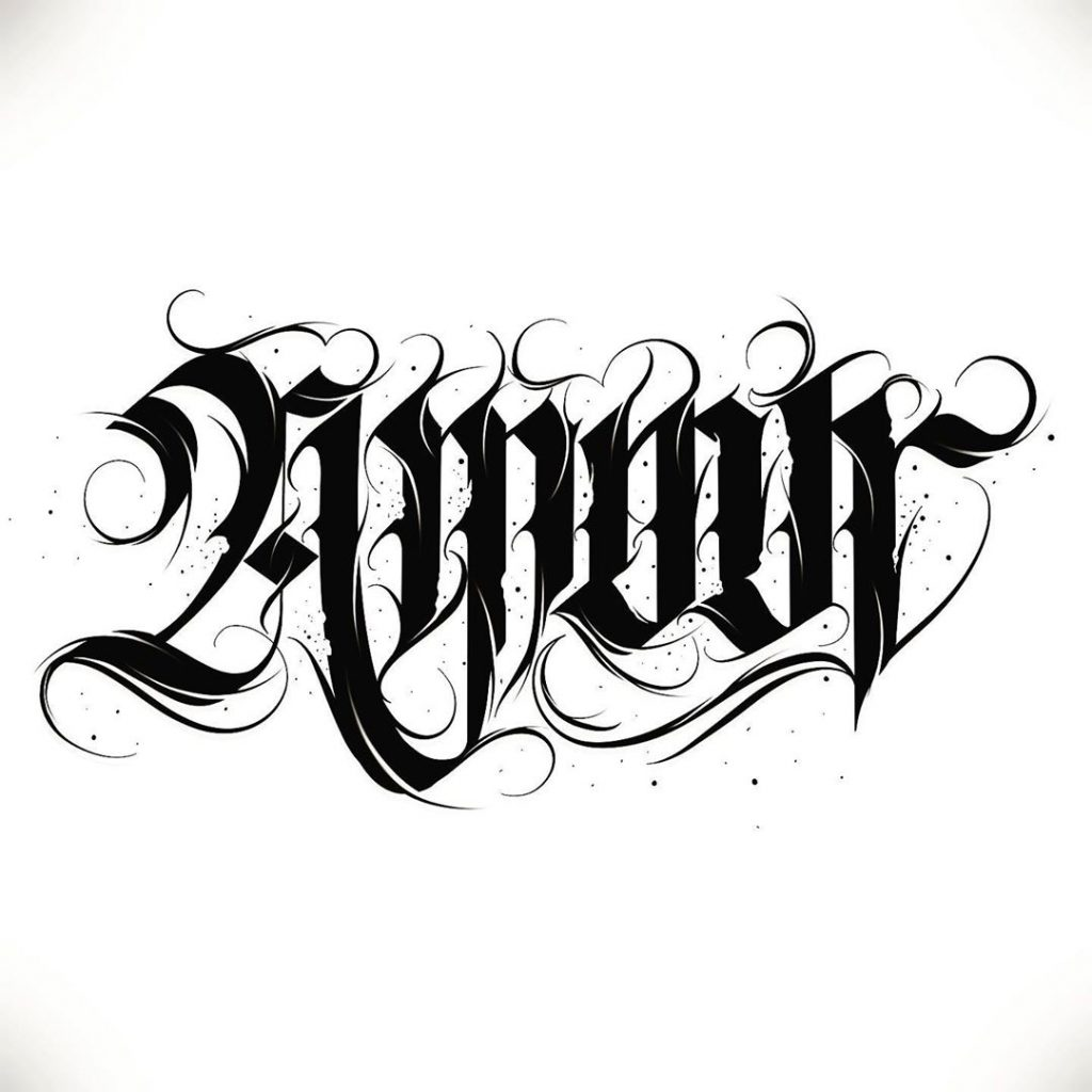 Calligraphie « Amour »
