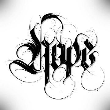 Calligraphie « Hope »