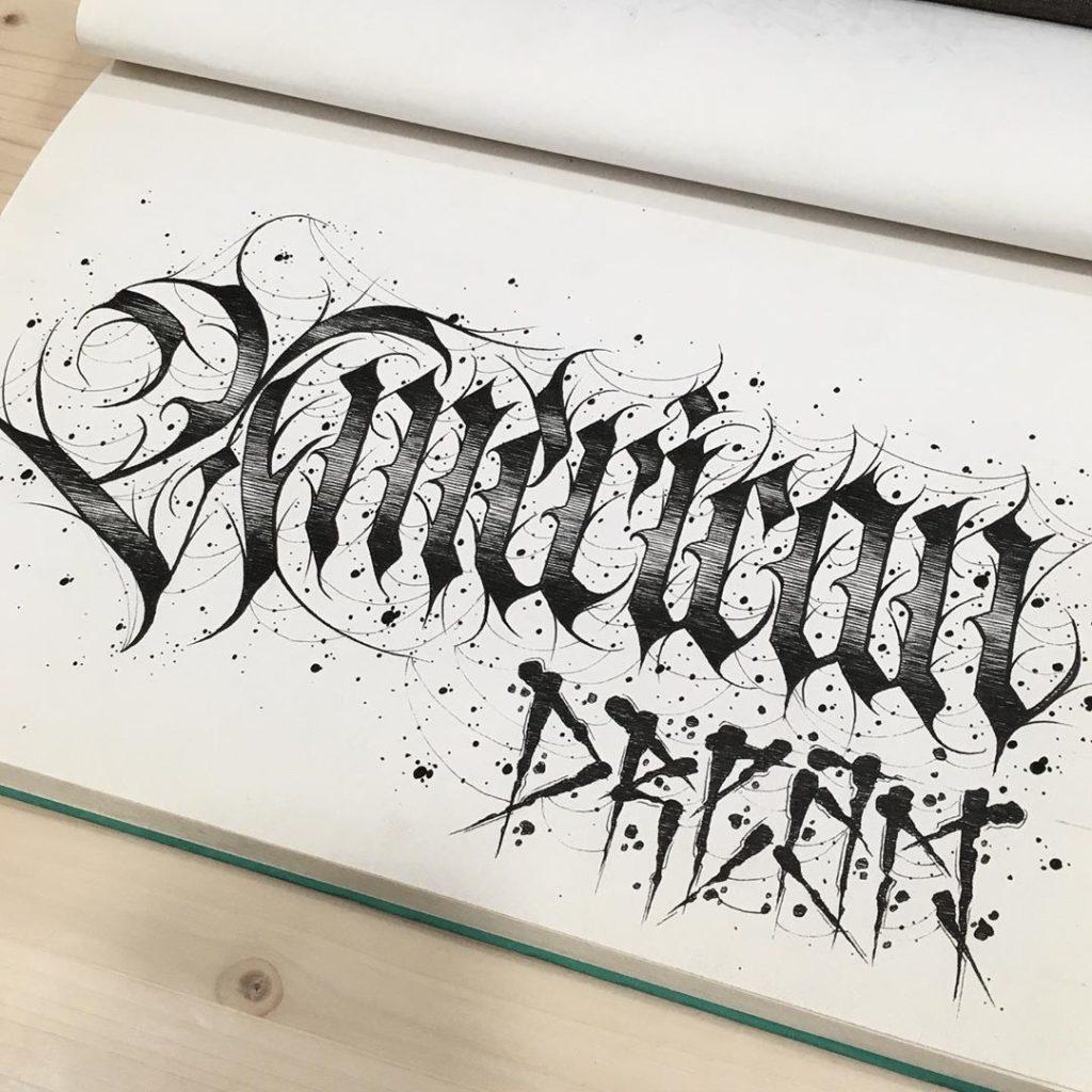 Calligraphie « American Dream »