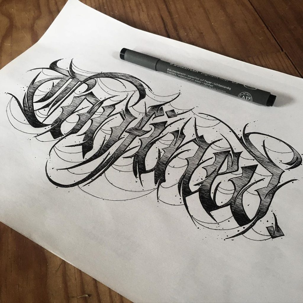 Calligraphie « Confined »