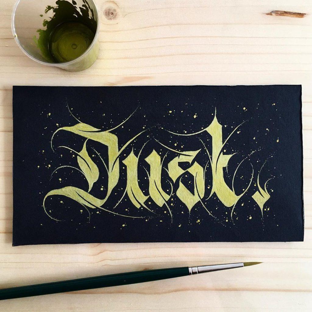 Calligraphie « Dust »