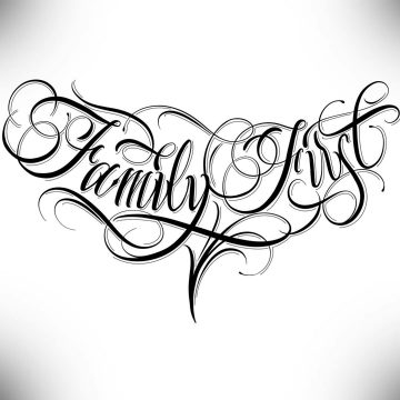 Calligraphie « Family First »