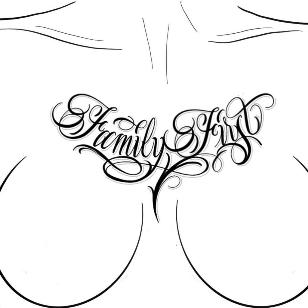 "Calligraphie ""Family First"""
