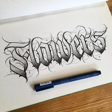 Calligraphie « Flowers »