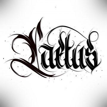 Calligraphie « Laetus »