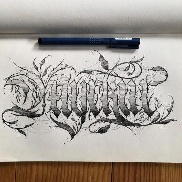 Calligraphie « Myrkur »