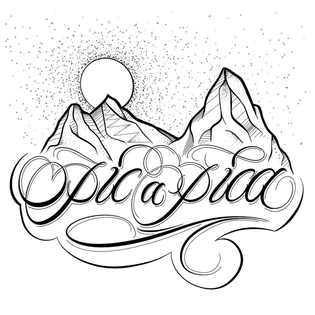 Calligraphie « Pic a Pica »
