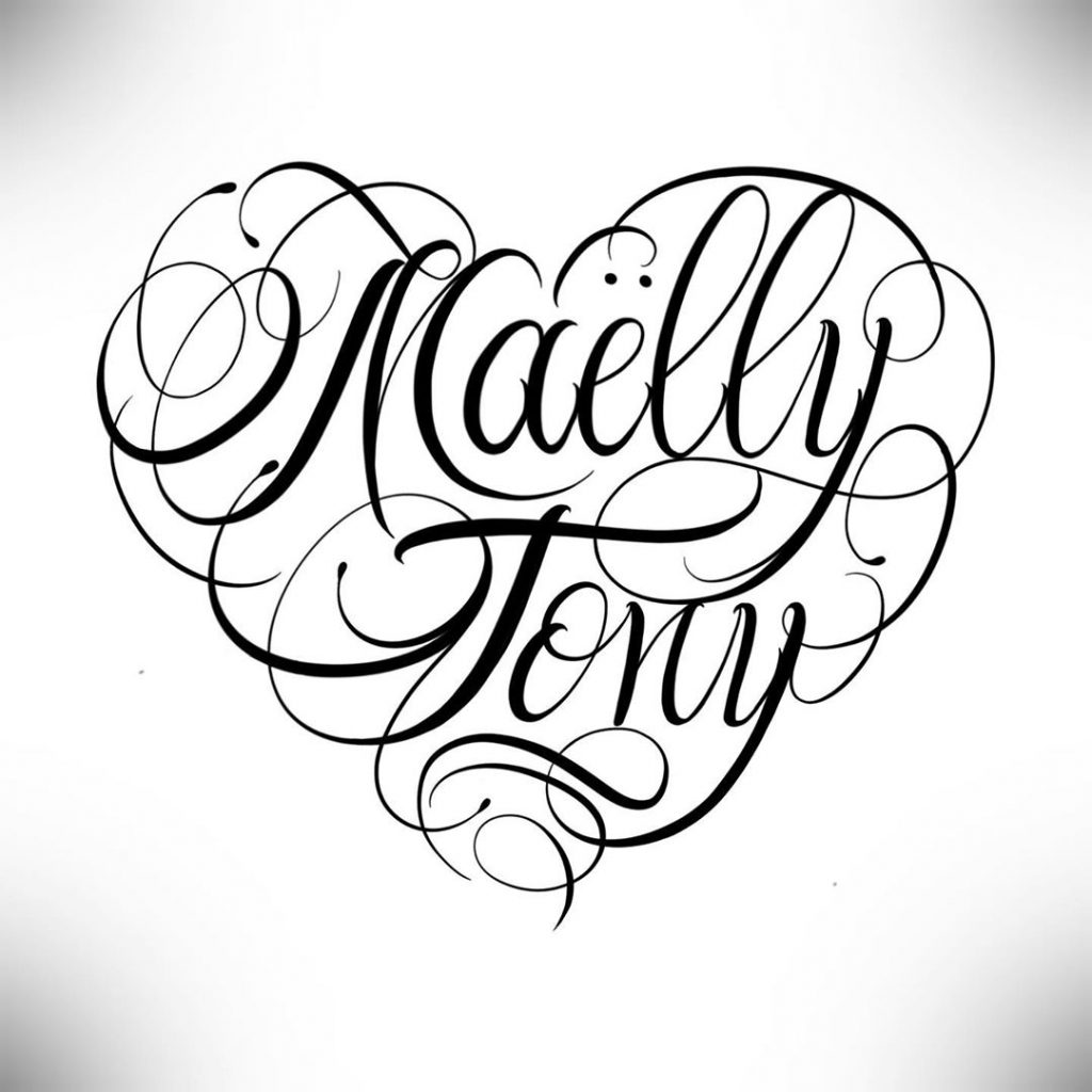 Calligraphie « Maëlly Tony »