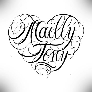 Calligraphie « Maëlly Tony »
