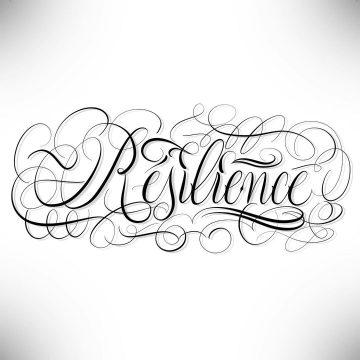 """Calligraphie """"Résilience"""""""