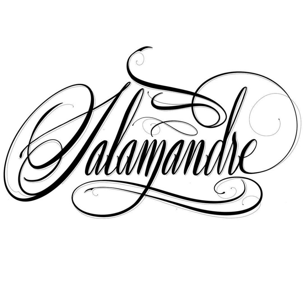 "Calligraphie ""Salamandre"""