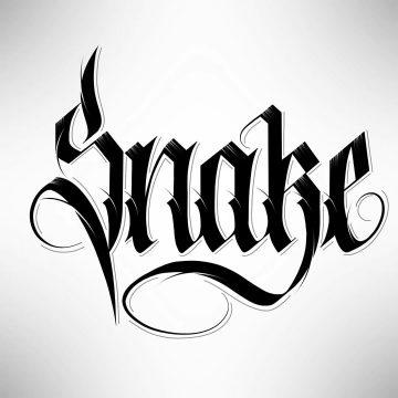 Calligraphie « Snake »