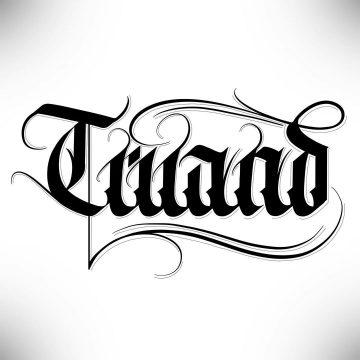 Calligraphie « Truand »