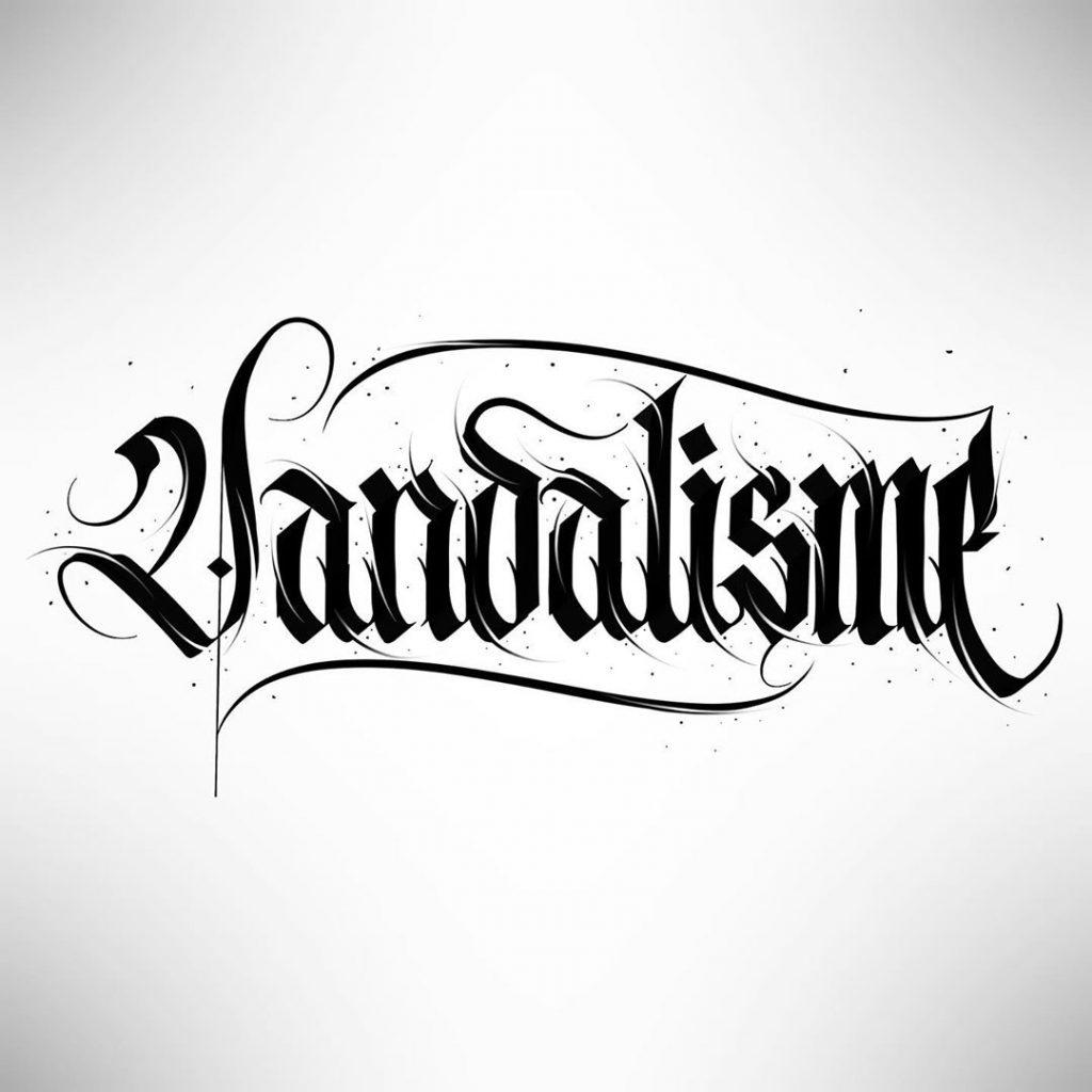 Calligraphie « Vandalisme »