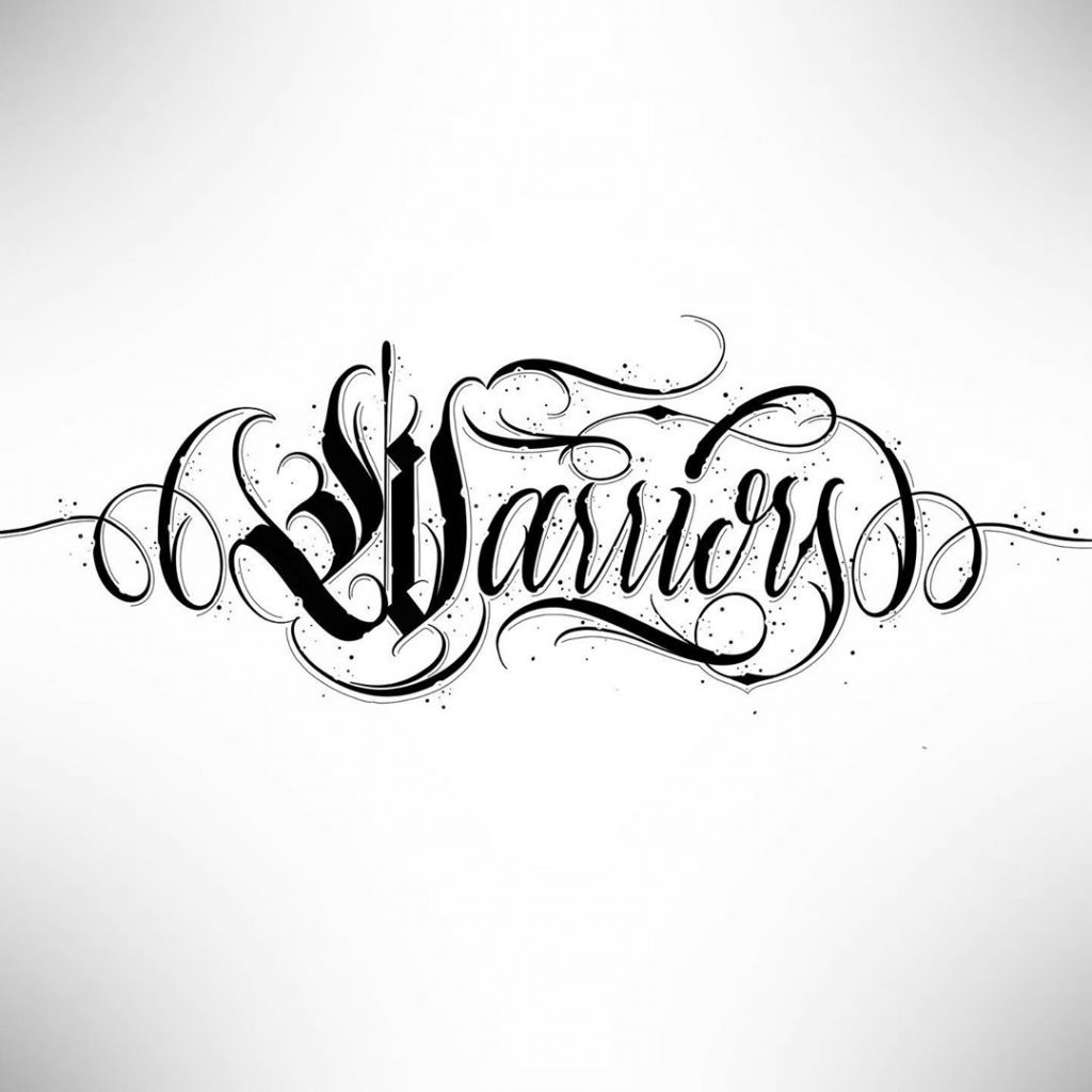 Calligraphie « Warriors »