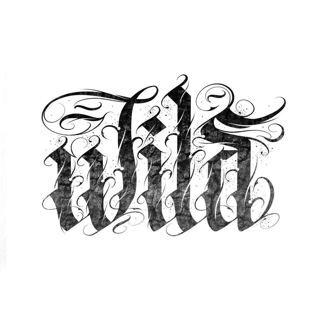 "Calligraphie ""Wild"""