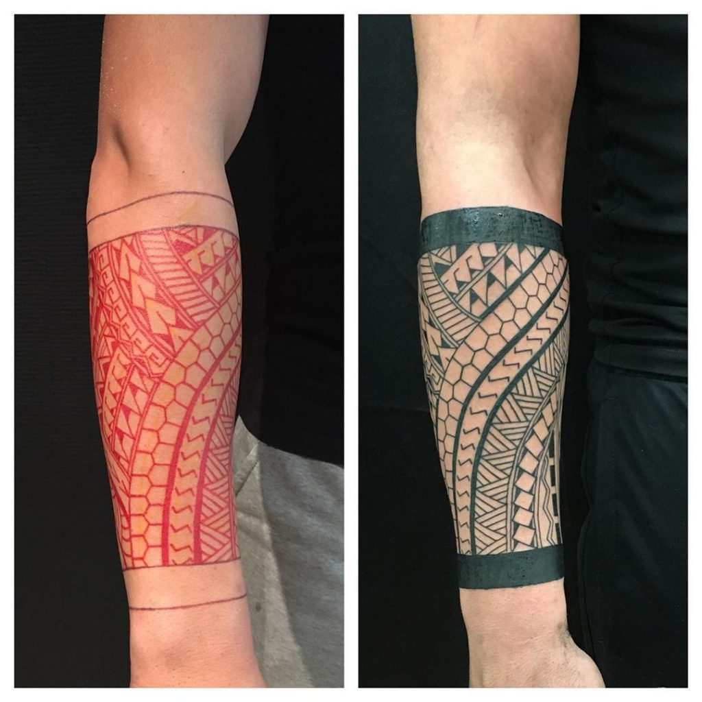 Tatouage maori avant-bras