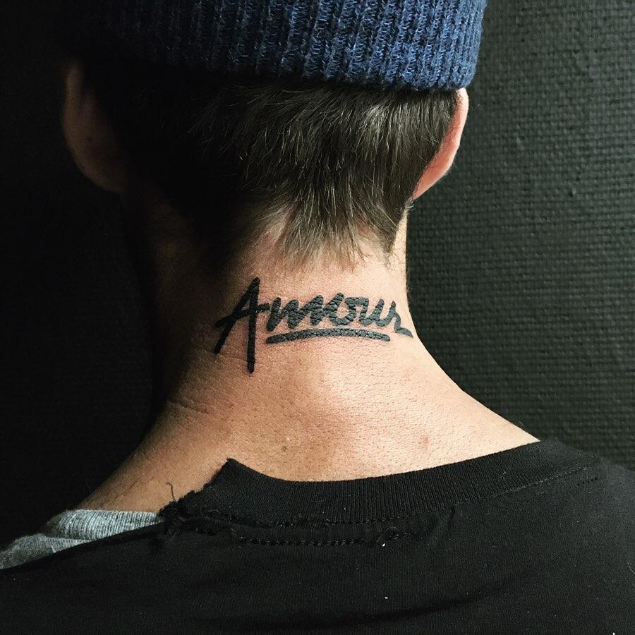 « Amour » Dans le respect de la calligraphie de Jean-Luc Duez, Pour que son art perdure.