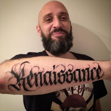 Tatouage Calligraphie « Renaissance »