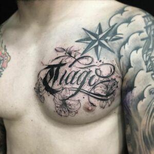 Tatouage Calligraphie « Tiago »