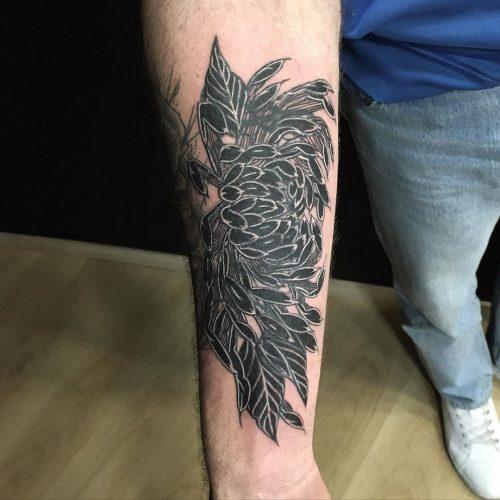Tatouage Chrysanthème sur l'avant-bras - Cover