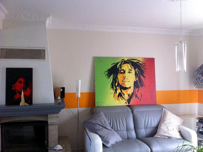 Peinture Bob Marley - en situation
