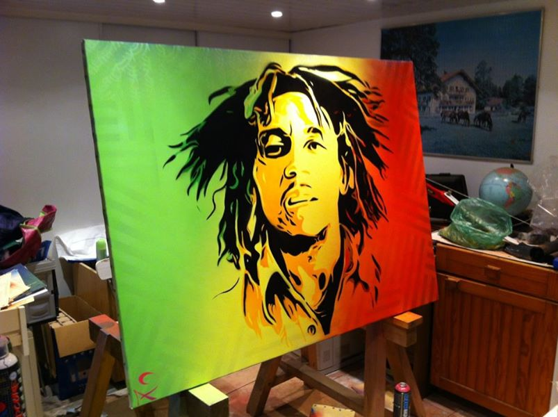 Peinture Bob Marley