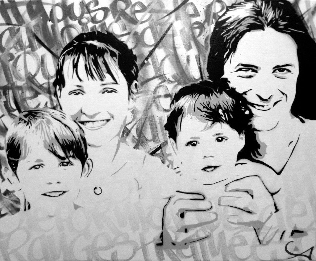 C'est la famille ! (noir & blanc)