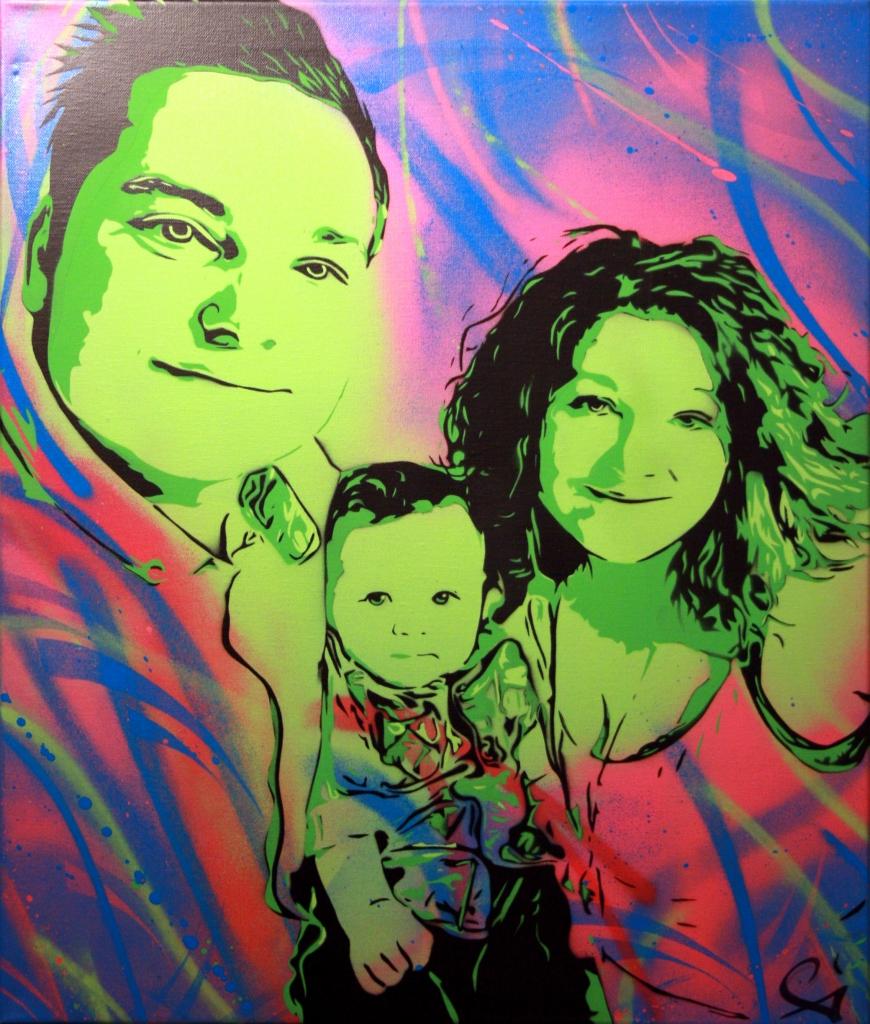 Peinture C'est la famille !