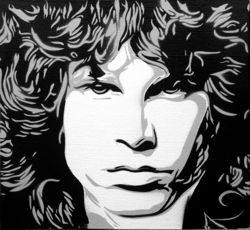 Peinture Jim Morrison