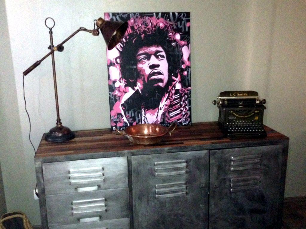 Peinture Jimmy Hendrix - en situation