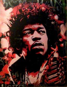 Peinture Jimmy Hendrix