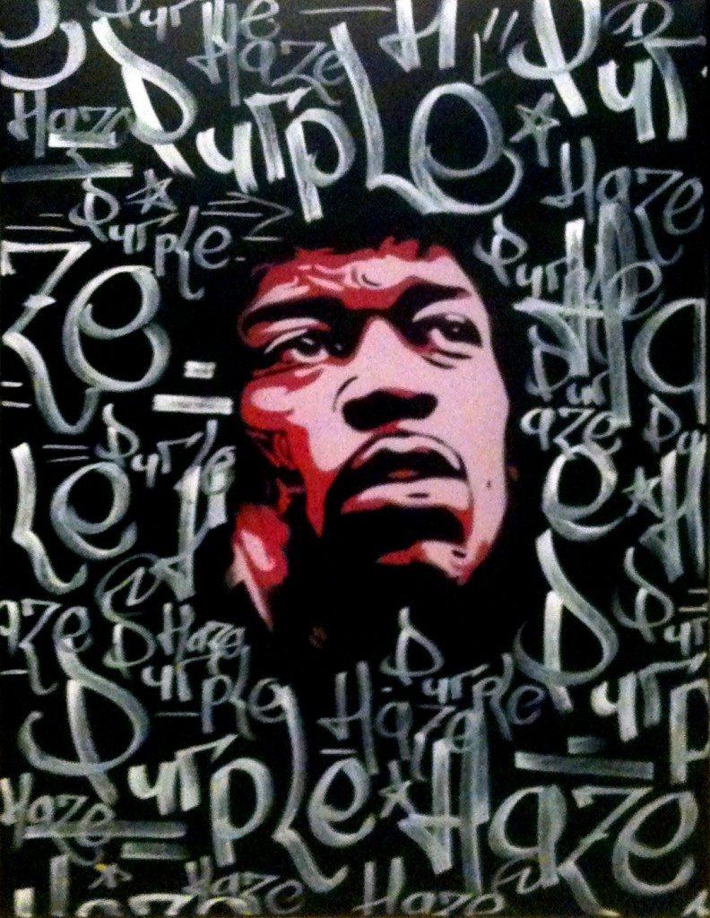 Peinture Jimmy Hendrix - visage