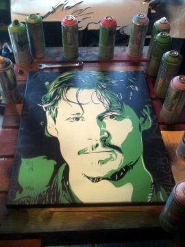 Peinture Johnny Depp