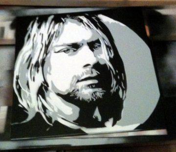 Peinture Kurt Cobain