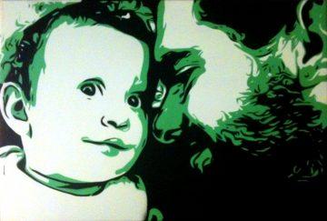 Peinture papa & bébé