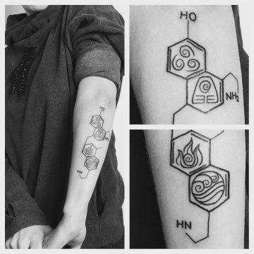 Tatouage Molécules & éléments