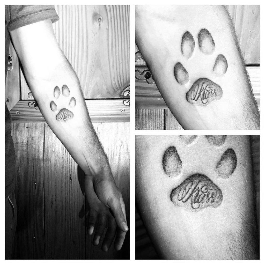 Tatouage Empreinte chien Krass