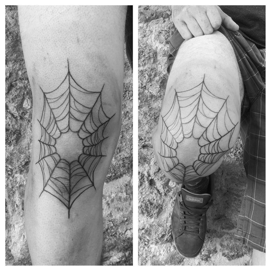 Tatouage Toile d'araignée